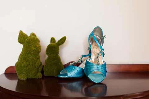 Blue Wedding Shoes Belair National Park Wedding
