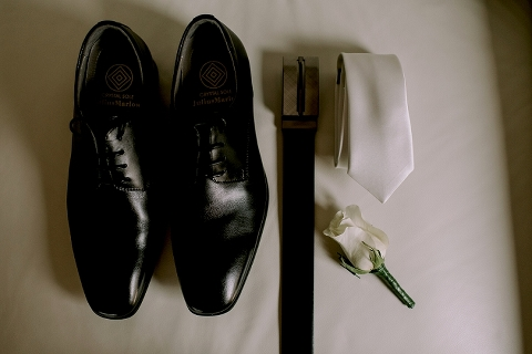 groom shoes, belt and tie